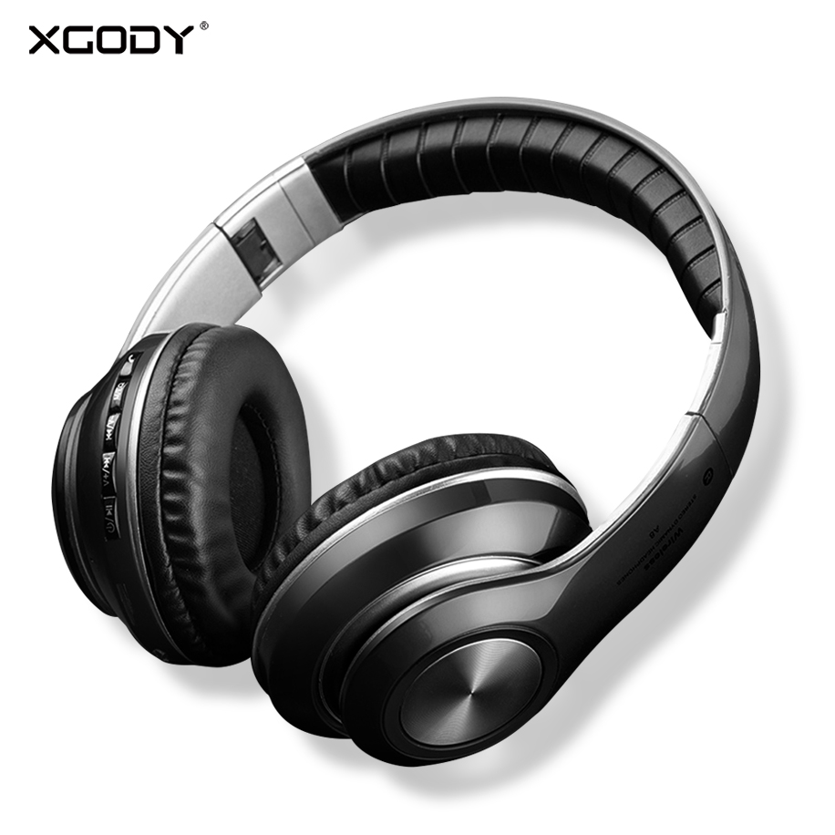 XGODY V33 Wireless Bluetooth Headphone 4.2 Gaming FM Foldable Portable Bluetooth Earphone Headset With Mic Supports TF AUX