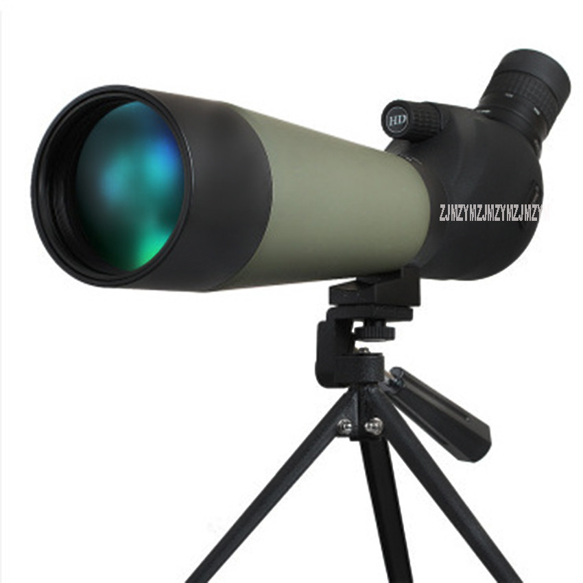 20-60X80 Spotting Scope With Tripod Mount 80mm Hunting Telescope 20-60X Zoom Waterproof Birdwatch Hunting Long Range Monocular 15 45x60 spotting scope waterproof telescope 60mm 15 45x zoom birdwatch long range hunting monocular with tripod mount