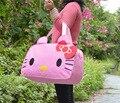 Hello Kitty Сумки Женщины Дорожные Сумки для Девочек Мультфильм Плеча Мешок Большой Емкости Девушки Дорожная Сумка Сумки для Путешествия Тото