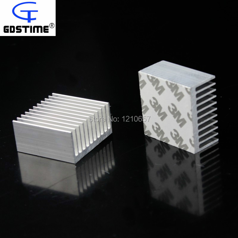 10Pcs lot Aluminum Radiator Heat Sink Heatsink 40mm x 40mm x 20mm 20 x 20mm led aluminum heatsink board