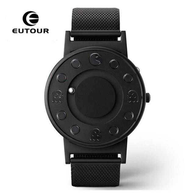 EUTOUR Watch Men Luxury Brand Magnetic Waterproof Sport Watches Men's Quartz Wrist Black Watch Male Clock relogio masculino