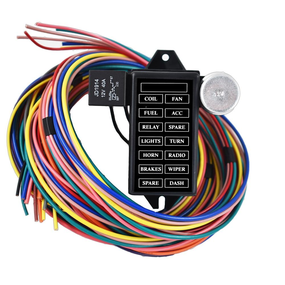 [ZHKZ_3066]  USA New 12 Circuit Fuse Universal Wire Harness Muscle Car Hot Rod Street  Rat XL ushirika.coop | 12 Circuit Universal Wiring Harness |  | Tanzania Federation of Cooperatives