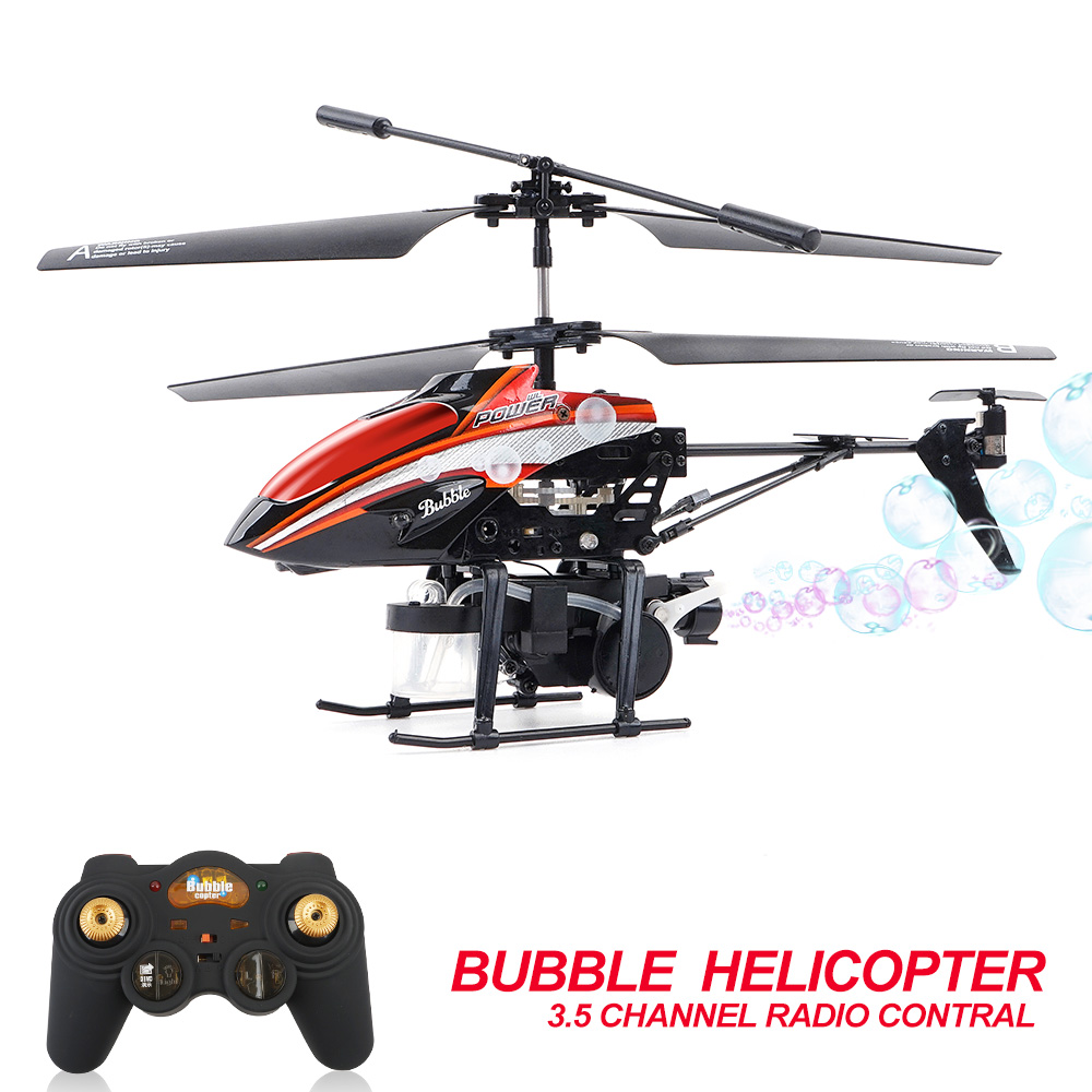 Bubble RC Helicopter Mini Drone Telecommande 3.5CH Construit En Gyroscope RTF RC Plane Kids Control Remote Shoot Water Drone