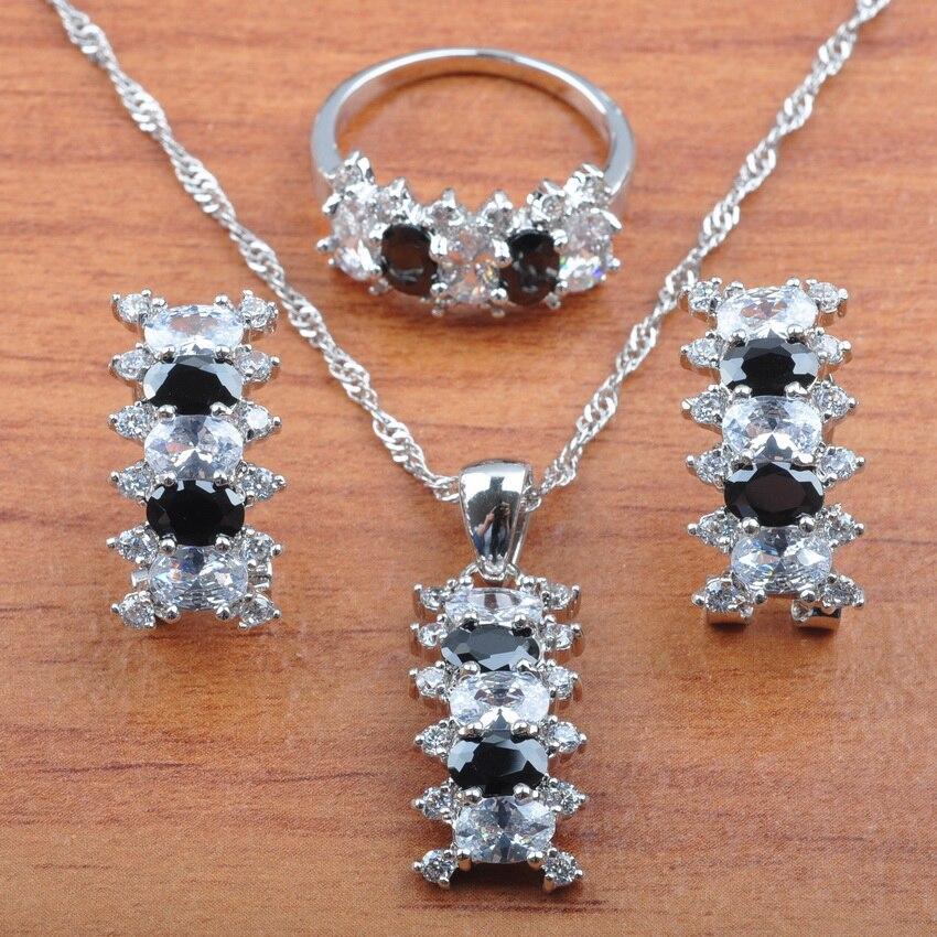 Aufstrebend Österreich Natürliche Kristall 925 Sterling Silber Sets Luxuriöse Braut Schmuck Für Frauen Halskette Anhänger Clip Ohrringe Ring Js0560