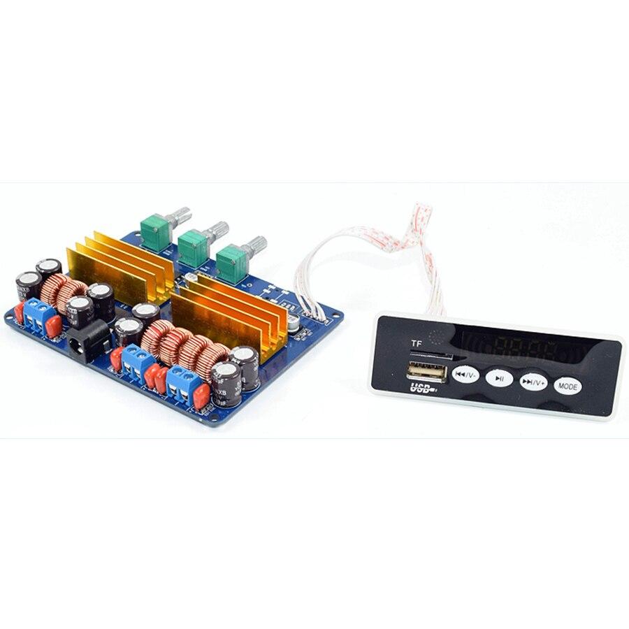 Carte amplificateur Audio Bluetooth haute puissance TPA3116 2.1 carte TF carte USB FM AUX Subwoofer