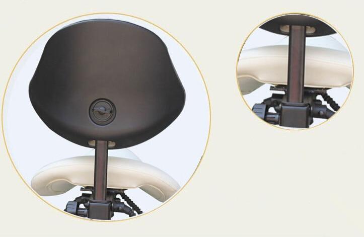 Dentale di serie mobile sedia sgabello sella del medico di cuoio