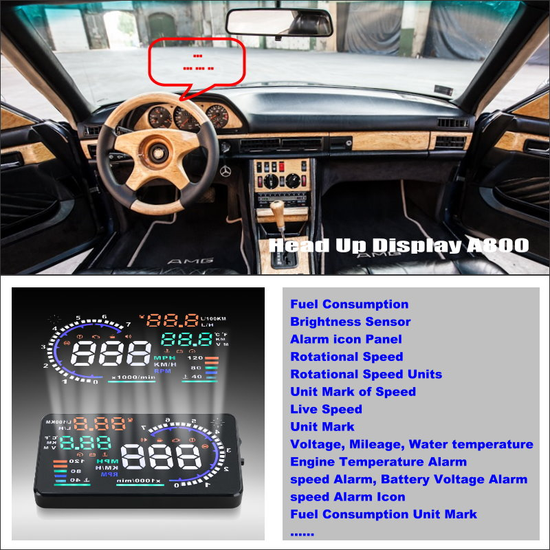 Car hud head up display for mercedes benz s mb w126 w140 for Mercedes benz heads up display