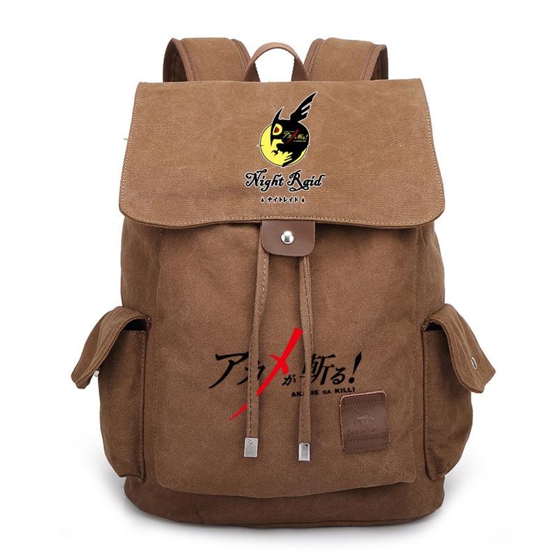 Japan Anime Akame ga KILL Tatsumi Night Raid Bag Backpack Rucksack Travel Canvas Book School Men Women Boy Girls Bag Gift kill la kill matoi ryuko cosplay shoes anime boots