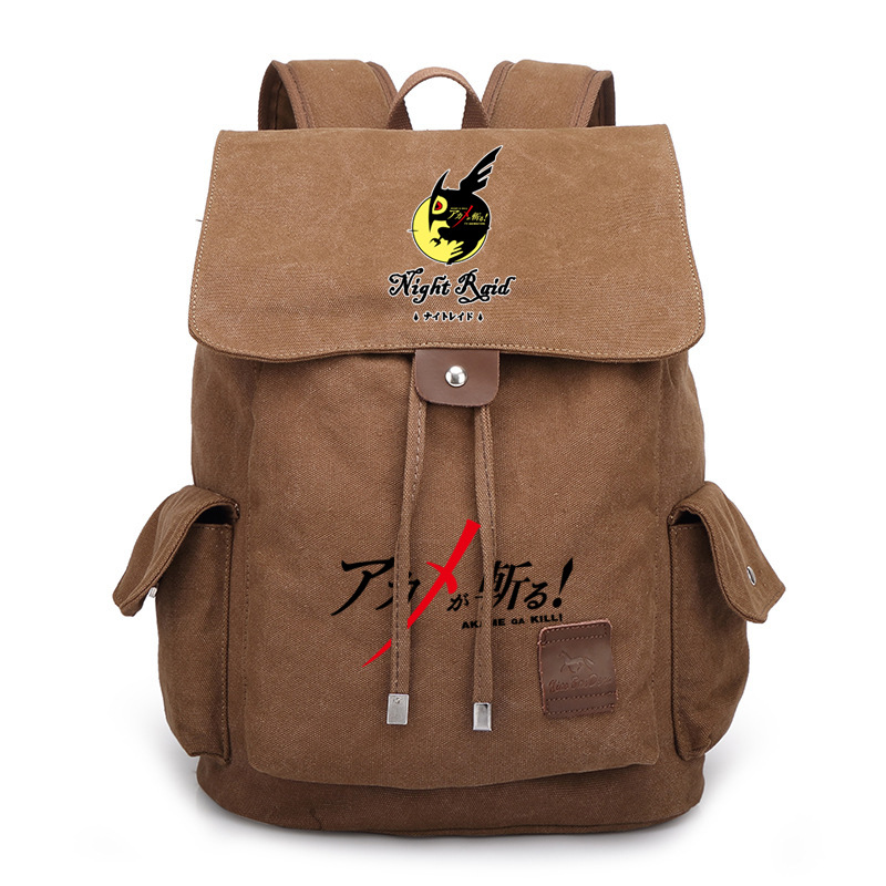 Japan Anime Akame ga KILL Tatsumi Night Raid Bag Backpack Rucksack Travel Canvas Book School Men Women Boy Girls Bag Gift
