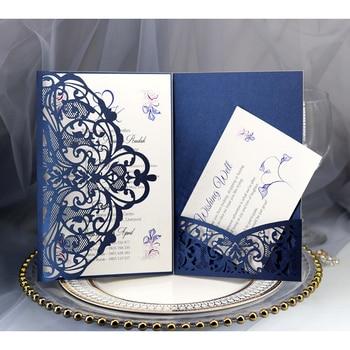 10pcs/lot European hollowed-out lace Wedding Invitations Card Elegant Lace Favor Print Envelopes Wedding Party Decoration