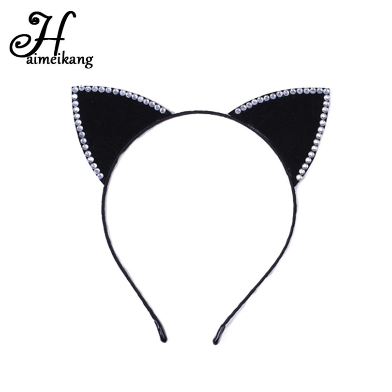 Girl's Hair Accessories Apparel Accessories Sexy Lace Cat Ear Headbands For Womens Party Head Bezel Bell Girls Ear Cat Hairband Headwear Hair Accessories Elegant Appearance
