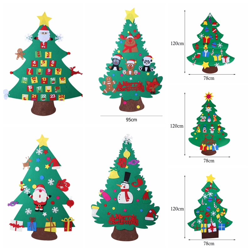 New Felt Christmas Tree Kids DIY Decorations Xmas Door ...