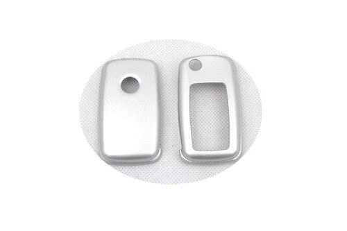 Жесткий Пластик БЕСКЛЮЧЕВОЙ дистанционный ключ защитный кожух(Блестящая серебряная) для Фольксваген MK6