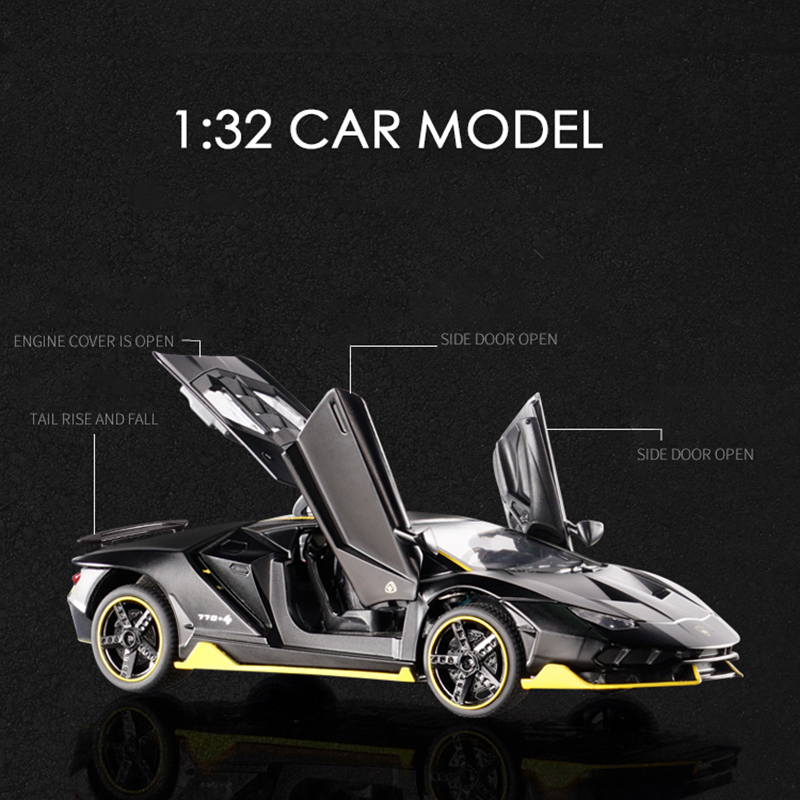 KIDAMI 1 32 Scale Aventador 770 Diecast Vehicle Model Toy Cars Pull Back Car with Sound