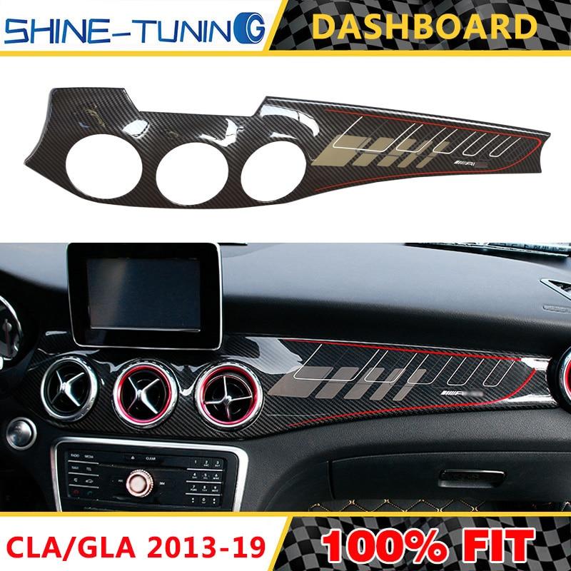 Suitable For CLA W117 GLA X156 Carbon Fiber Dashboard Trim Cover Control Panel CLA200 CLA250 CLA45 GLA200 GLA220 GLA45 2013-19