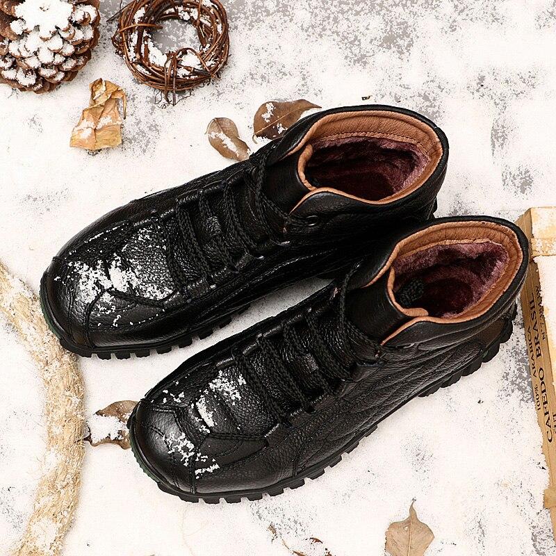 Hh Hommes Neige D'hiver À 085 Cuir Travail Qualité En Air Chaussures L'intérieur Noir Chaleur Bottes Plein De Véritable Supérieure marron Fourrure rq0Tr6