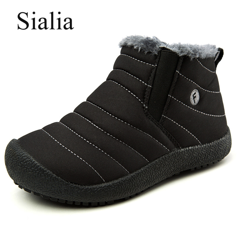 Sialia Winter Boots For Girls Snow Shoes Boys Kids Boots Children Shoes Waterproof Plush Ankle Boots Felt Warm Botas Para Nina