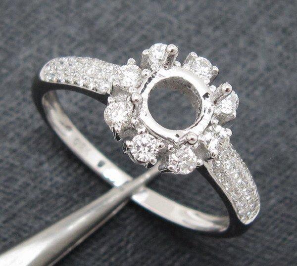 0.45CT Round Natural Diamond 14K Gold Ring