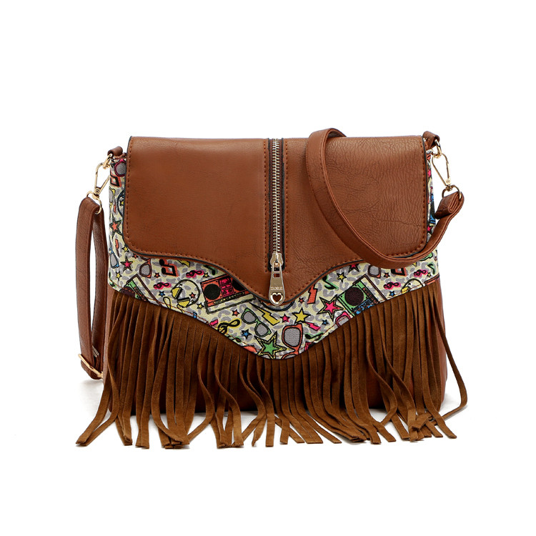 sac boheme ethnique marron
