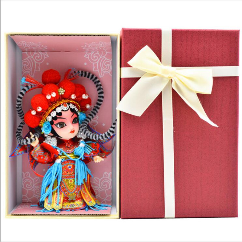 Tangrenfang Doll Peking Opera Doll Chinese Characteristics Folk Crafts Ornaments Abroad Gifts Beijing Juanren Toys for Children image