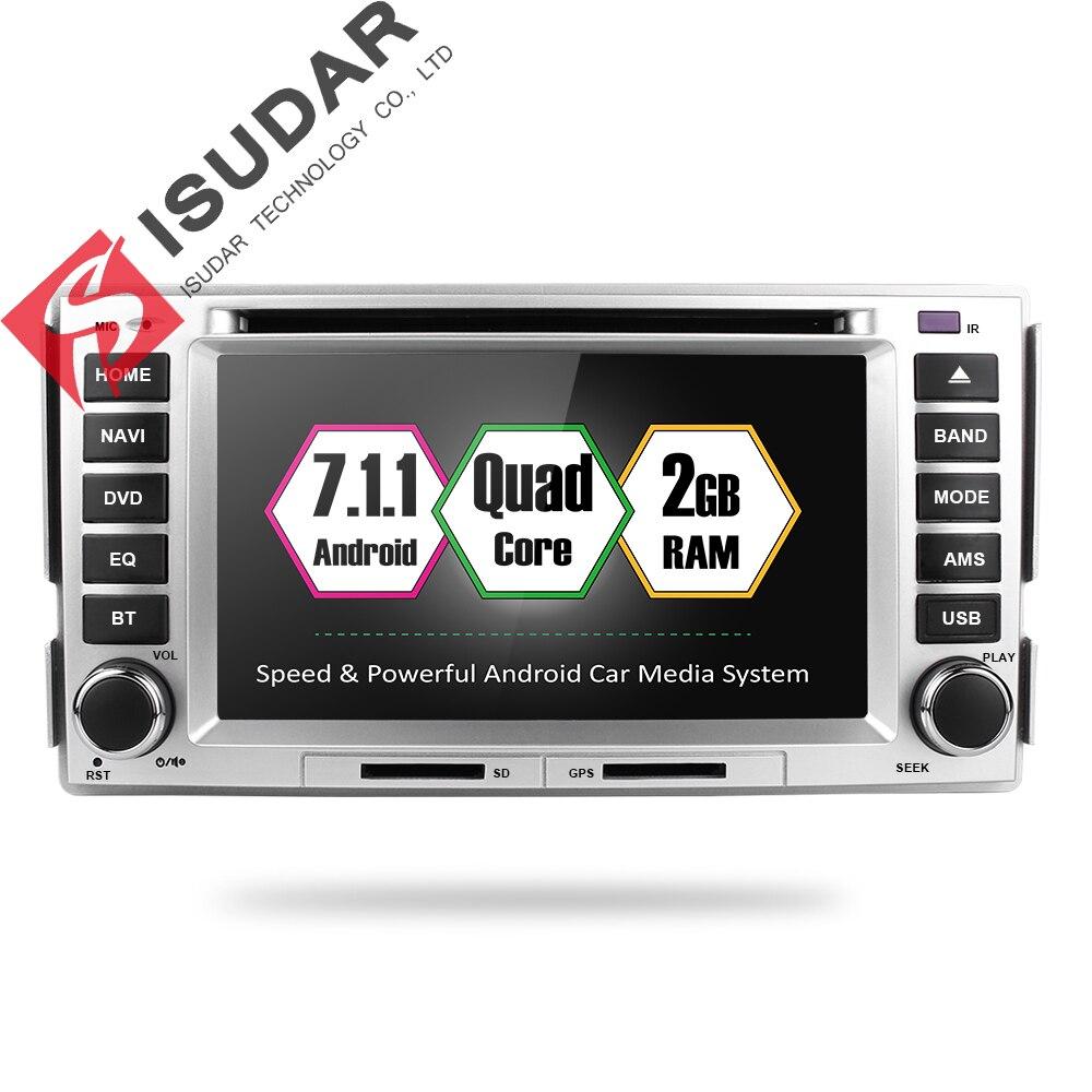 Isudar Auto Multimedia player 2 din Auto DVD android 7.1.1 6.2 pollice Per HYUNDAI/SANTAFE/SANTA FE 2006 -2012 Radio 4 Core 4g FM GPS