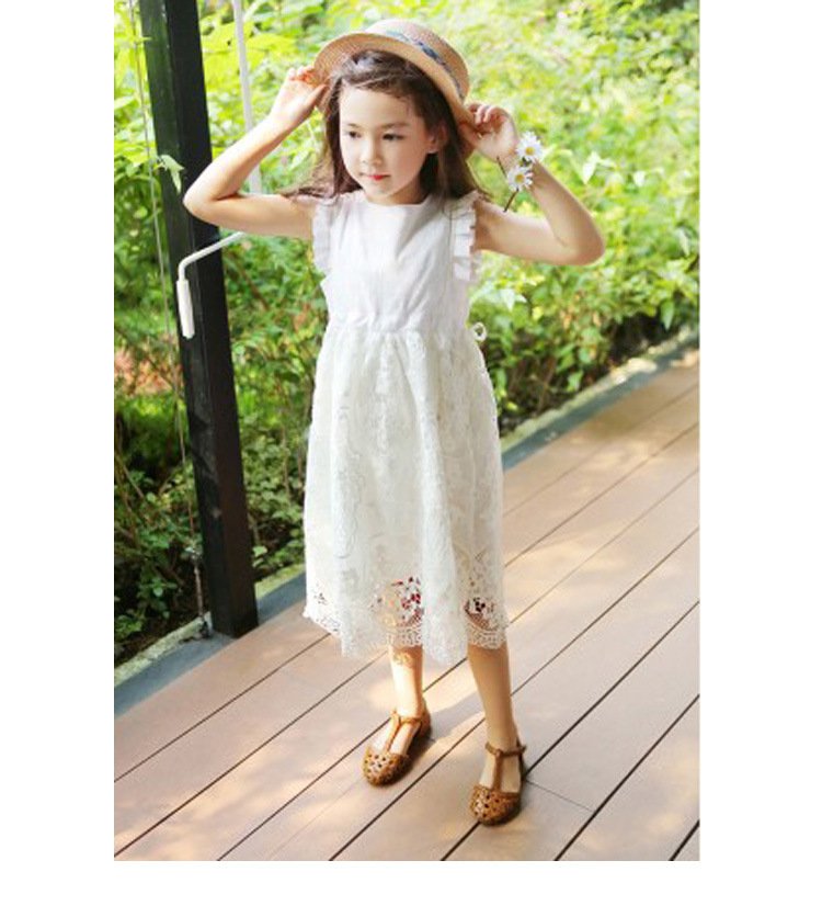 2018 SUMMER NEW Children Clothes Girls Beautiful Lace Dress Quality White Baby Girls Dress Teenager Kids Dress For Age 4-16 2017 summer new children clothes girls beautiful lace dress quality white baby girls dress teenager kids dress for age 2 12
