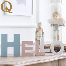 2017 the latest home accessories 10cmA to Z a variety of colors letters creative Wooden Letters Family Wedding movie