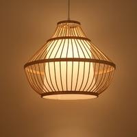 bamboo pendant lamp cage Hotel Club Cafe rattan bamboo lamp Chinese retro pendant light lighting ZA925639 ZAG503