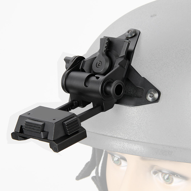 New Arrival Aluminum Helmet Adapter NVG Mount System Helmet Bracket with Permanent VAS Shroud For Night Vision gs24-0189 new vas 5054 plus odis 3 03 bluetooth version with oki chip support uds protocol vas 5054a diagnostic scan tool for vag