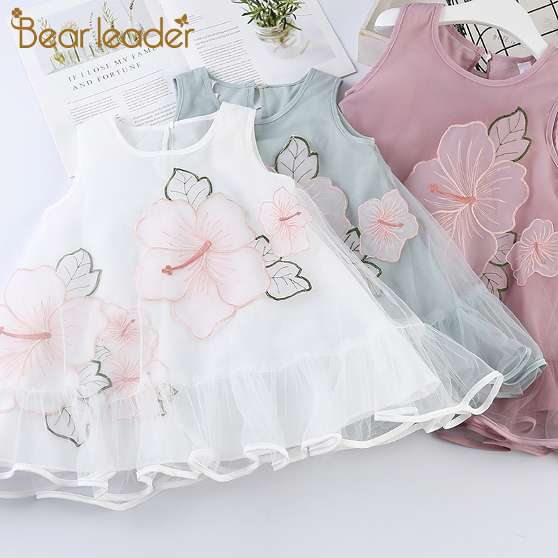 Bear Leader   Girls   Clothes Summer   Flower     Girls     Dresses   Wedding Embroidery Lace Gown Princess   Dress   Tulle Kids Elegant   Girls     Dress