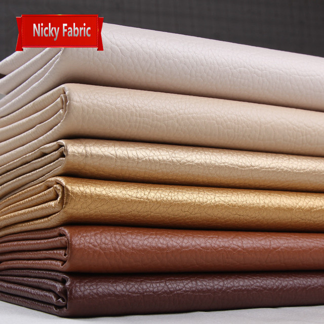 Faux PU Leather Embossed Fabrics Synthetic Leather Furniture Fabrics For  Wallpaper Artificial Leather Sewing Material Wholesale