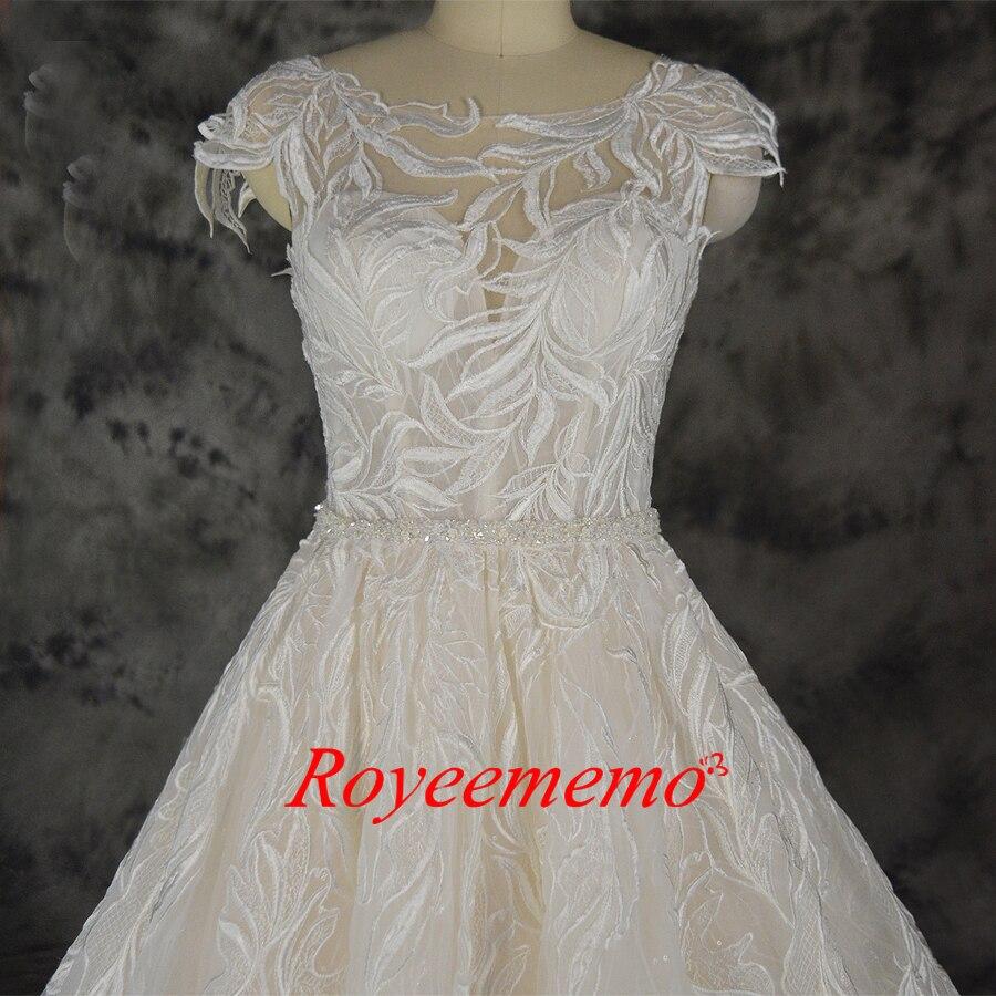 Image 2 - Fashion lace wedding dress champagne and ivory wedding gown custom made wholesale price bridal dressWedding Dresses   -