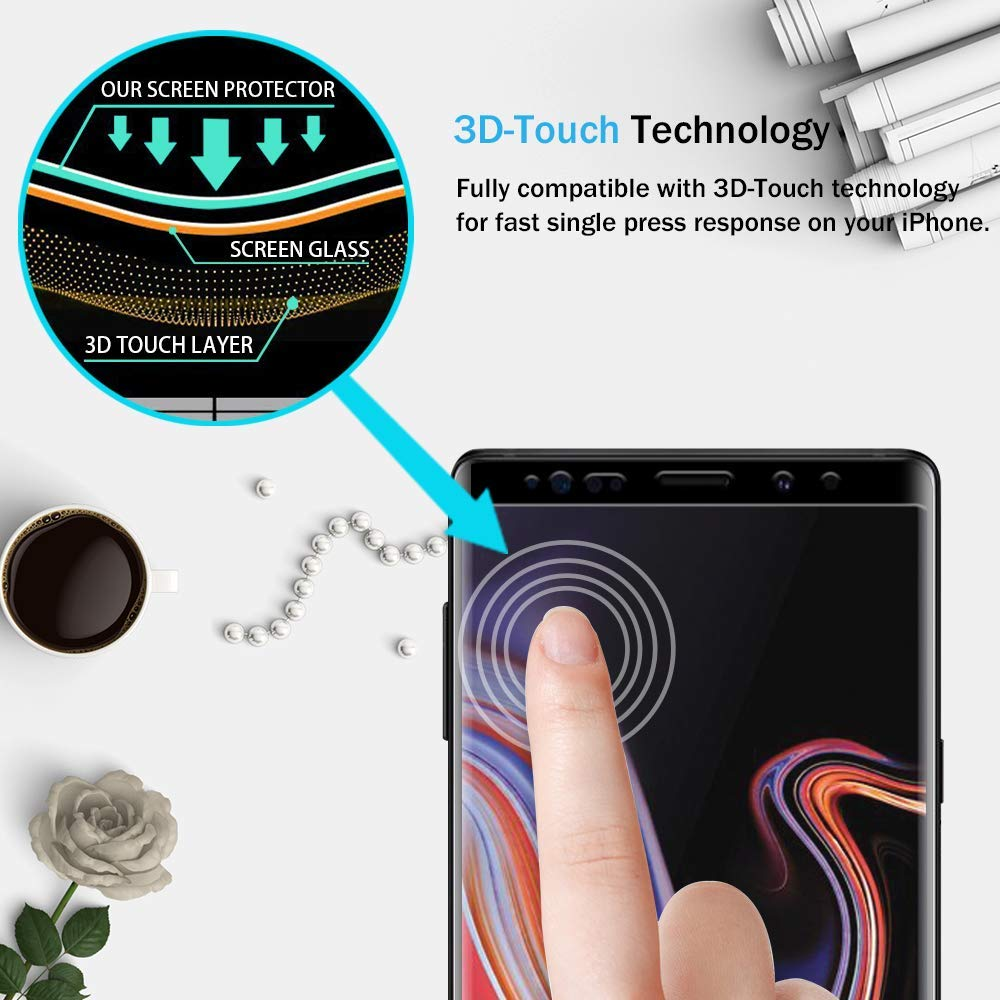 3D Curved Full Cover Tempered Glass Screen Protector Protective Film For Samsung Galaxy Note 9 N960