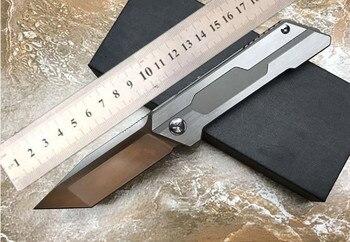 VOLTRON Новые складные ножи D2 атласное Лезвие Керамический шарикоподшипник шайба TC4 ручка Флиппер Танто ножи охотничий нож EDC инструменты