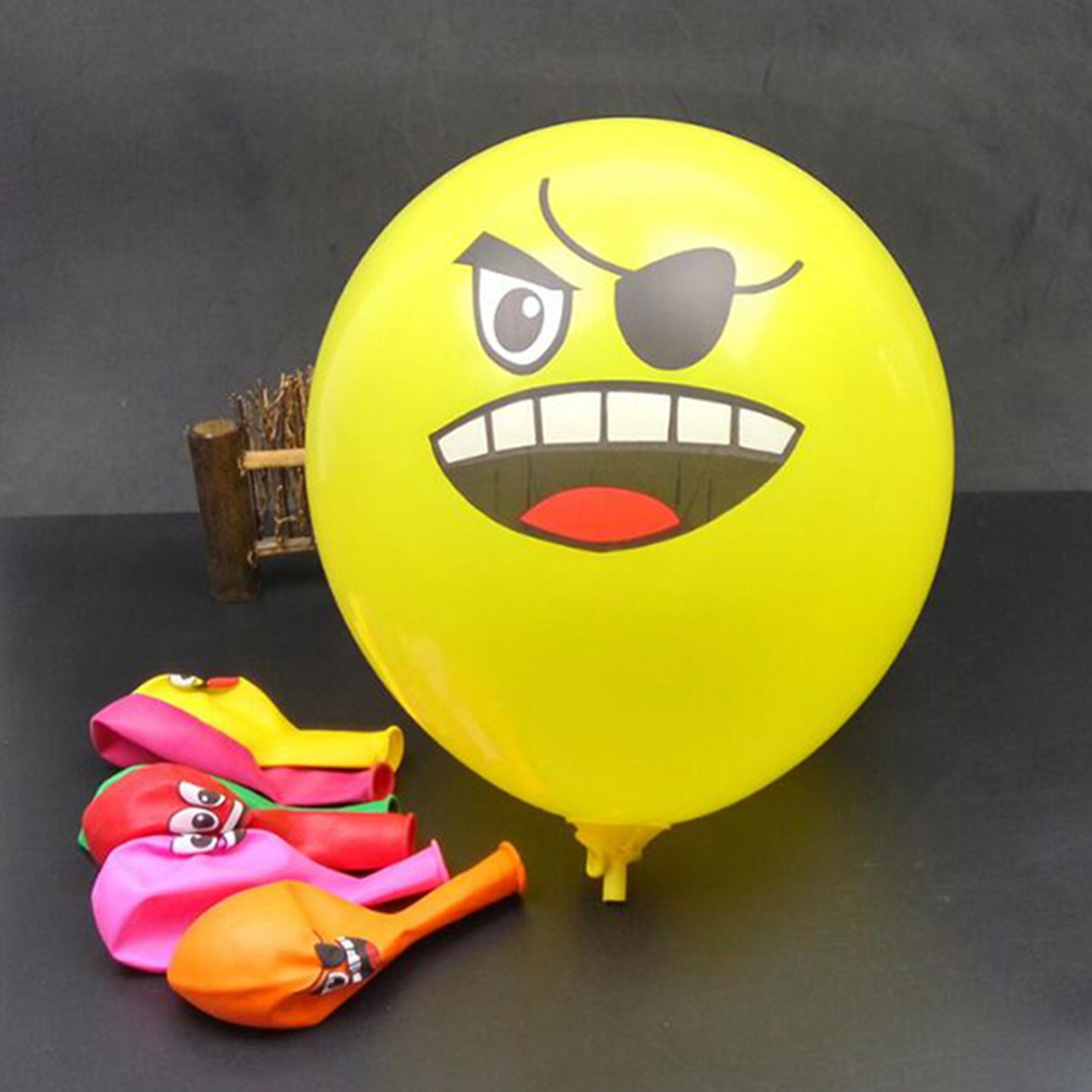 Cartoon Animal Round Cute Aluminium Face Smile Emotion Balloon Emoji Package Kiss Air Ball Toy Kids Children Pattern Random