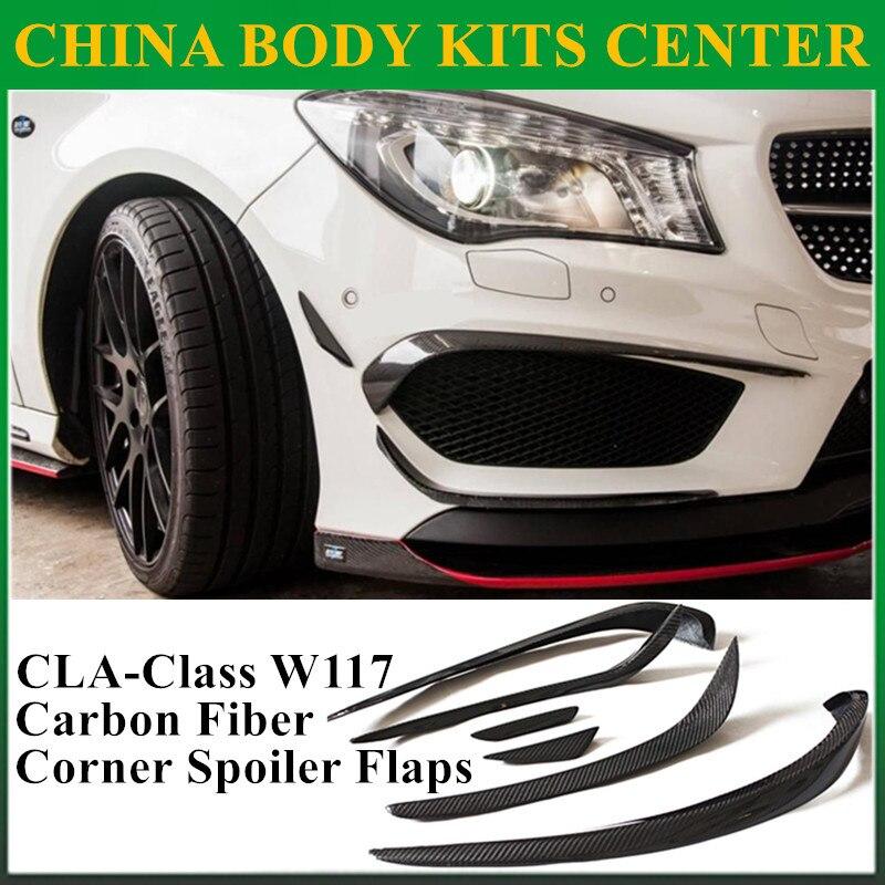Mercedes cla углеродного Волокно передняя губа SPLITTER клапаном утка для Benz W117 cla45 AMG cla180 cla200 cla250 (подходит спортивная автомобиль, AMG)