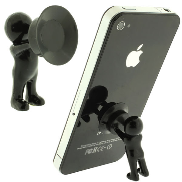 3pcs/lot Cute 3D Man Hercules Phone Holder Villain Stand Supporter For IPhone For Samsung ANd All Smart Phone Plunger Sucke
