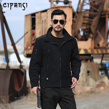 Hiking Jacket Fleece Men's Thermal Coat Slim Fit Tactical Causual Soft Warm Thicken Outerwear Army Clothes Weatherproof 750715