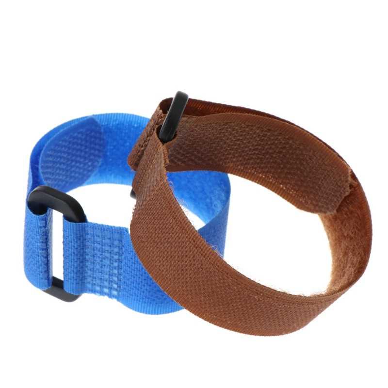 10 unids/bolsa de caña de pescar banda de fijación correa de lazo correa de poste ajustable envoltura de nylon herramienta