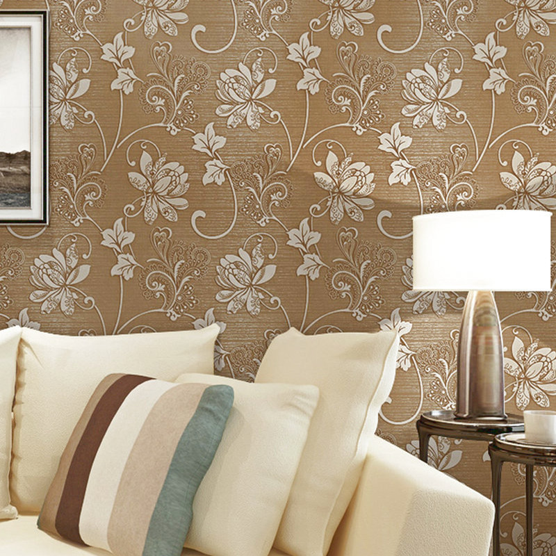 Modern Classic Relief Florals Wallpaper for Living Room Bedroom Wall paper Roll Desktop TV Background 3D Wallpaper for Walls 3d