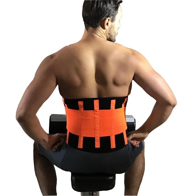 96c0ded5d2f Orthopedic Back Support Men Belts Breathable Lumbar Corset Women Medical Lower  Back Brace Waist Belt Spine Support Plus Size XXL