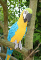 Amigurumi Blue-and-Yellow Macaw/Parrot crochet baby shower   house room decrotive, gift for freind,photo use