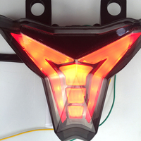 For KAWASAKI Z1000 Tail Light NINJA Motorcycle ZX6R ZX 10R Integrated LED TailLight Modified LED Winker Lamp Red Rearlamp