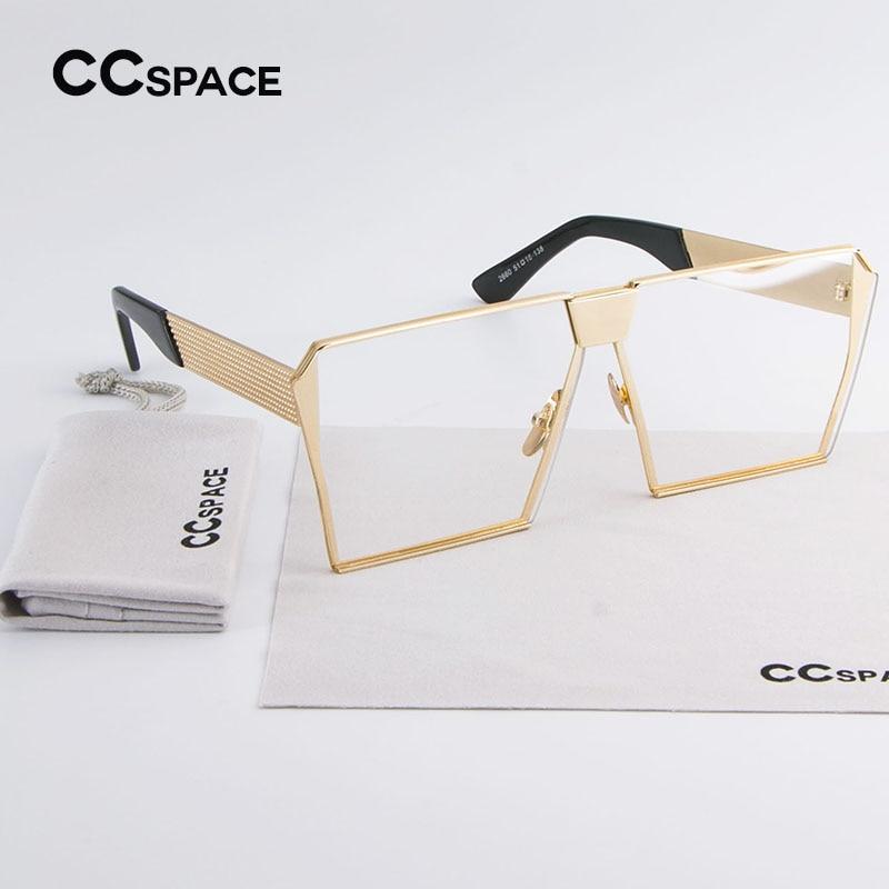 CCSPACE Einzigartige Oversize Schild Frauen Vintage Brillen Frames ...