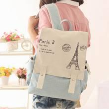Япония и корея стиль женщины холст рюкзак мешок школы для девочек дамы подростки свободного покроя дорожные сумки школьный рюкзак BS224