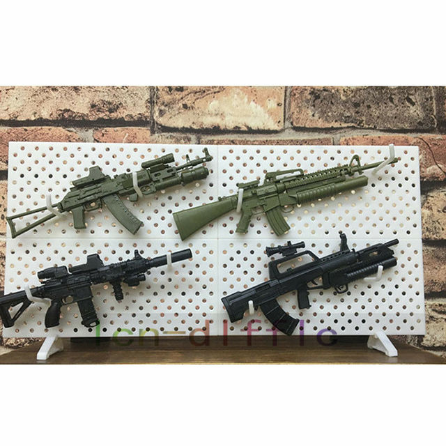 4pcs/set 1/6 Scale Modular Weapons Display Wall Show Storage Stand For Action Figures Gun Model 5