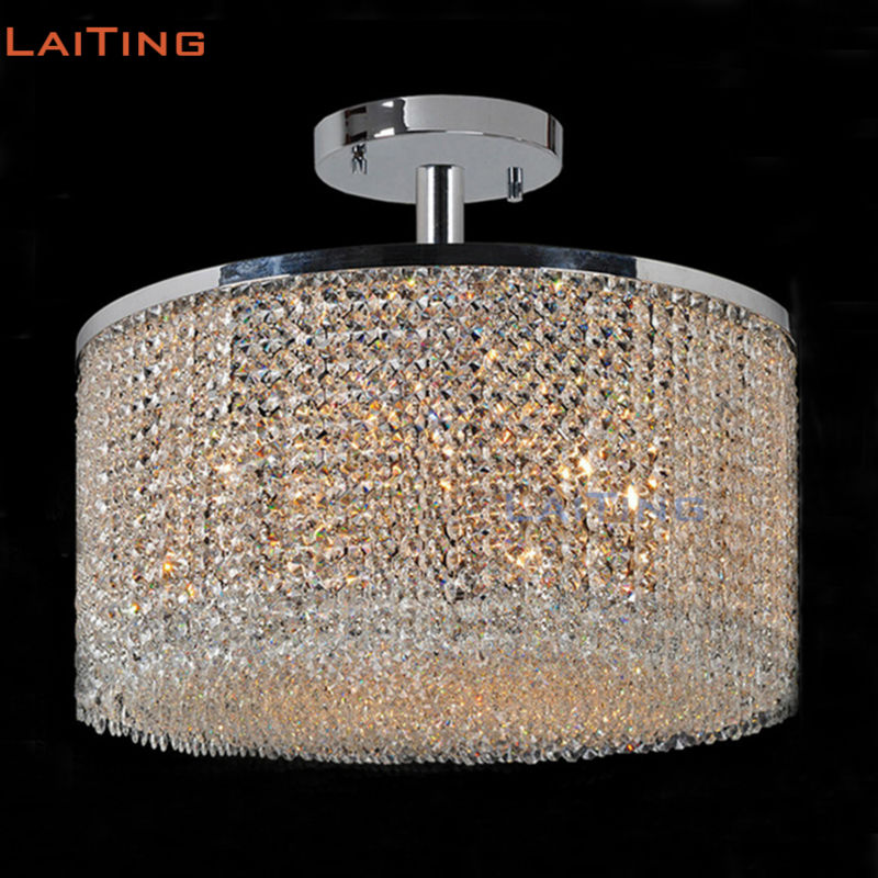 LAITING D20 Modern Lighting Fixture Ceiling Round Kristal Hanging Lamp Luxury Ceiling Lights for Living Room LT-51121