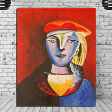 Marie Therese Walter Pablo Picasso HD Watercolor Art Canvas Poster Painting Wall Picture Print Home Bedroom Decoration Framework