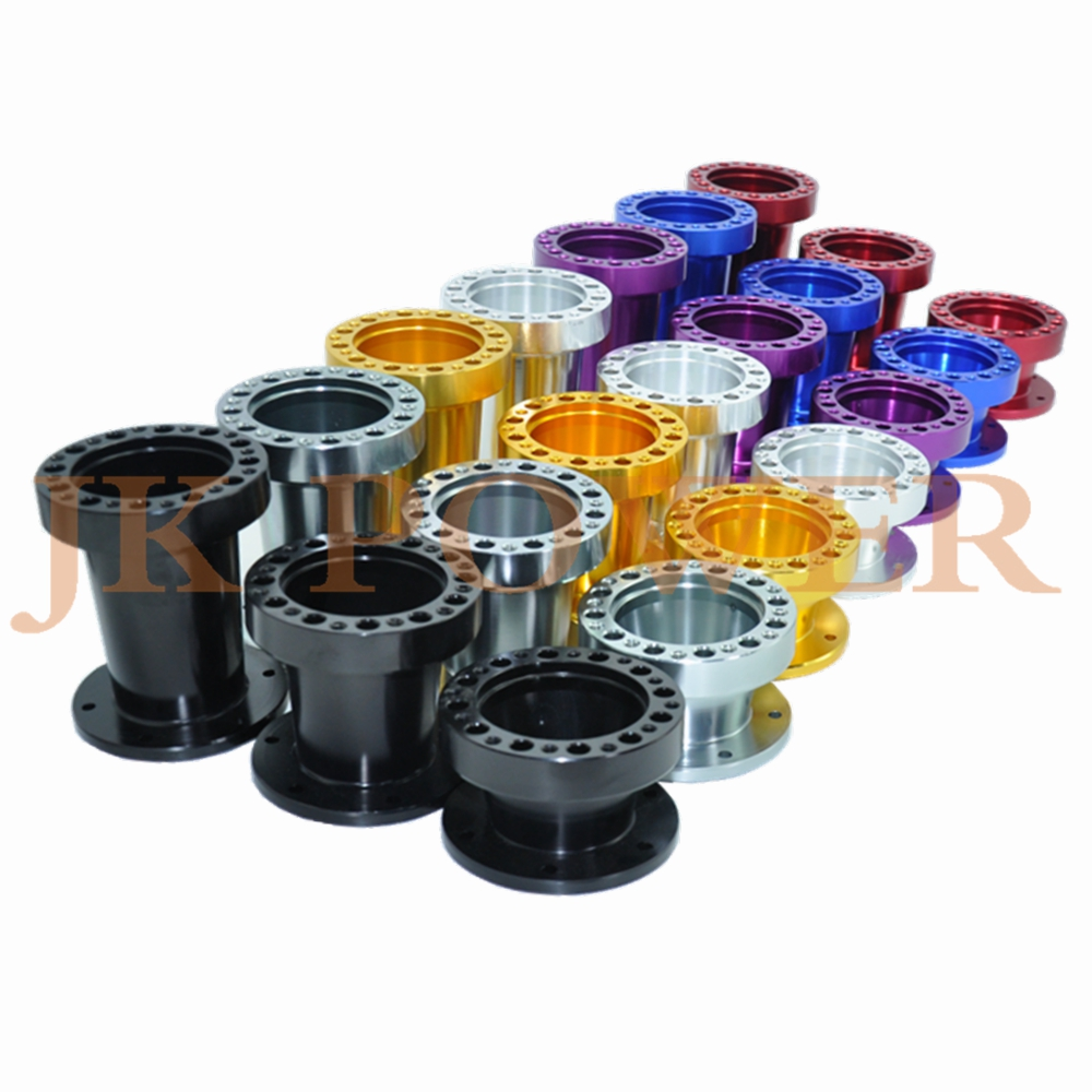 JK Car 101MM 76MM 51MM Universal Aluminum Steering Wheel Hub Adapter off Boss Kit Steering Wheel Spacer 2pcs universal aluminum alloy 4 and 5 lug 5mm thickness wheel spacer gasket for car auto