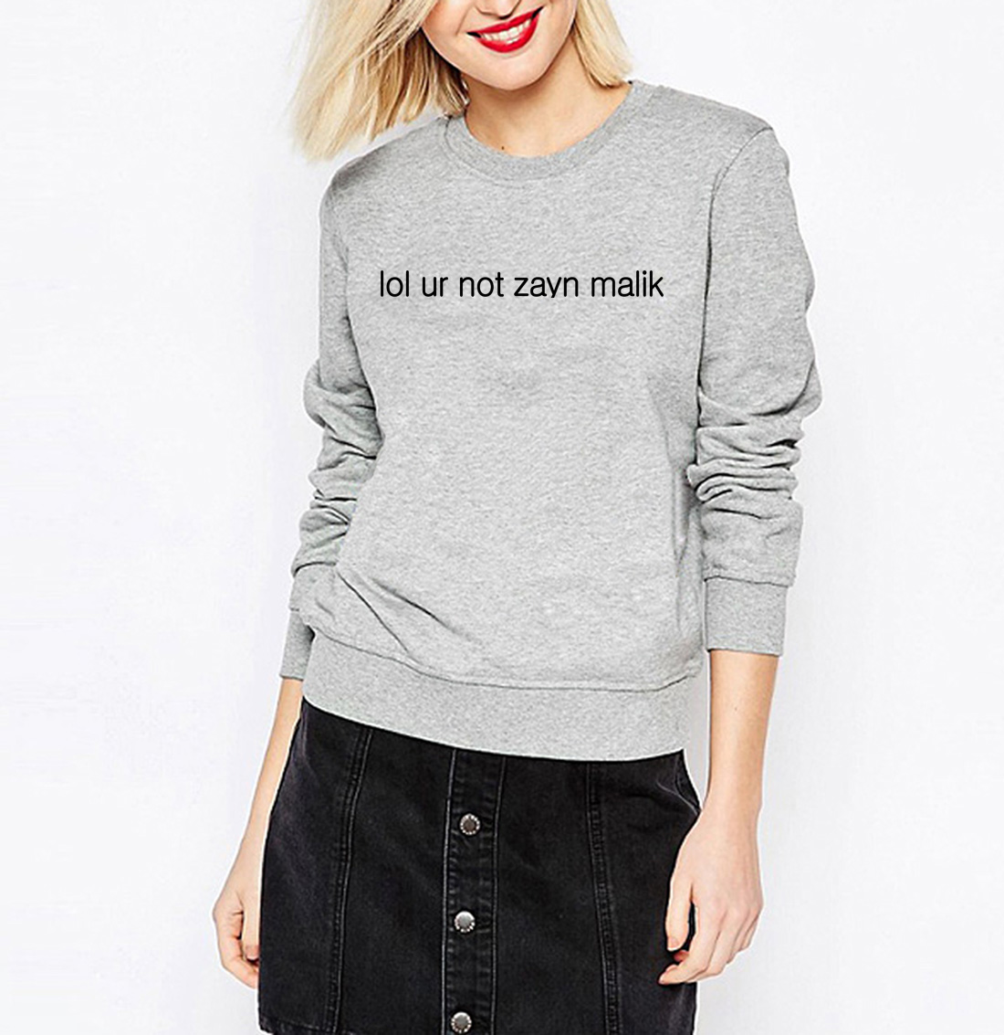 2017 moleton feminino LOL UR NOT ZAYN MALIK women kawaii hoody mma sweatshirt female har ...